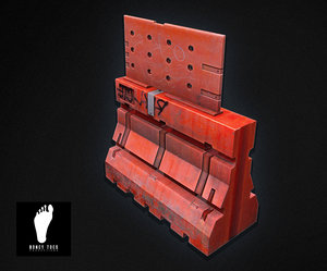 construction barrier 3d max