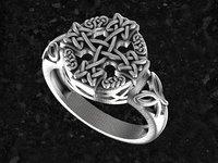 ring celtic 3d model