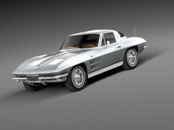 Chevrolet Corvette Stingray C2 1966 3d Modell Turbosquid 530112