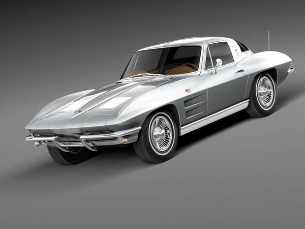 3d model chevrolet corvette c2 sport coupe