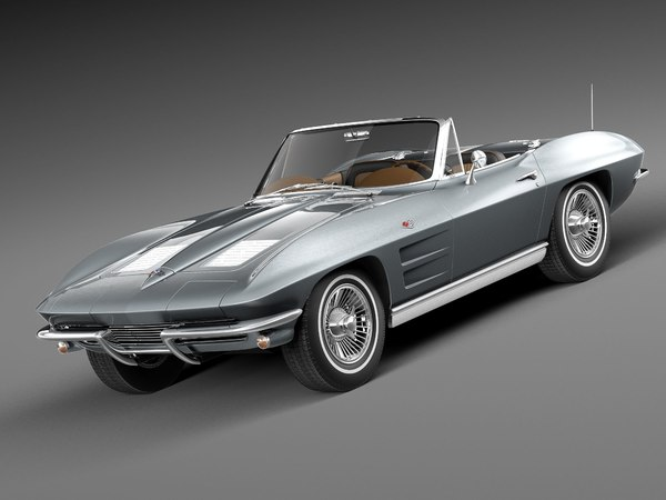 chevrolet corvette c2 convertible 3d 3ds