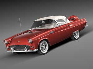 3d 3ds thunderbird 1956 cabrio convertible