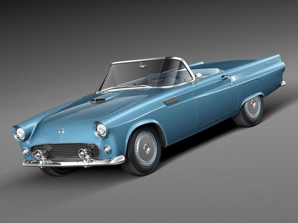 thunderbird 1955 cabrio convertible 3d model