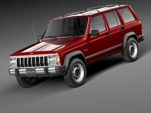 jeep cherokee 1984 1996 3d max