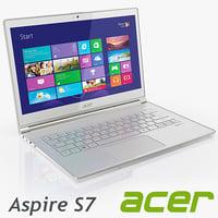 aser aspire s7 3d model