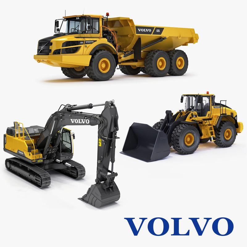 construction equipment excavator ec380el 3d max