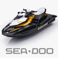 3d model jetski sea-doo gti 215