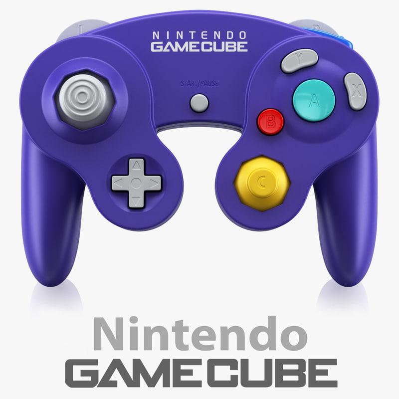 3d gamecube controller nintendo model