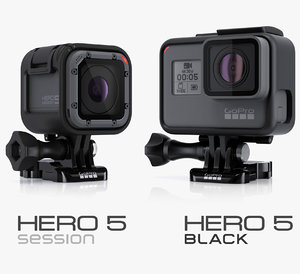 hero5 black session cameras 3d model