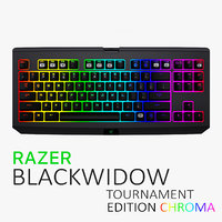 razer blackwidow chroma tournament 3d model