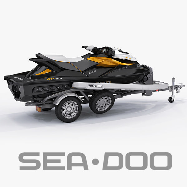 3d model sea-doo gti 215 trailer
