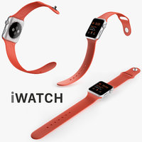 Apple Watch 42mm Silver Aluminum Case with Open Orange Sport Band