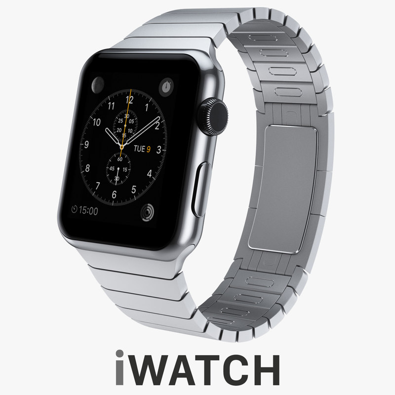 3d apple watch 42mm stainless steel