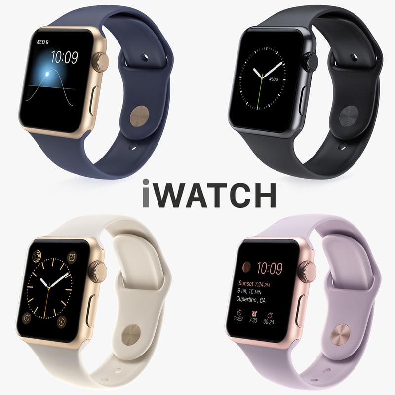 3d model apple iwatch watch
