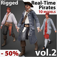 Real-Time Rigged Pirates Collection Vol. 2