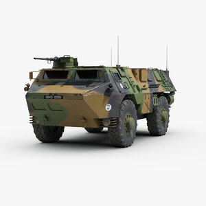 french vab 4x4 apc 3d max
