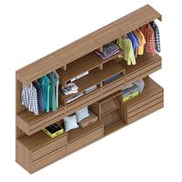 3D bosco wardrobe model
