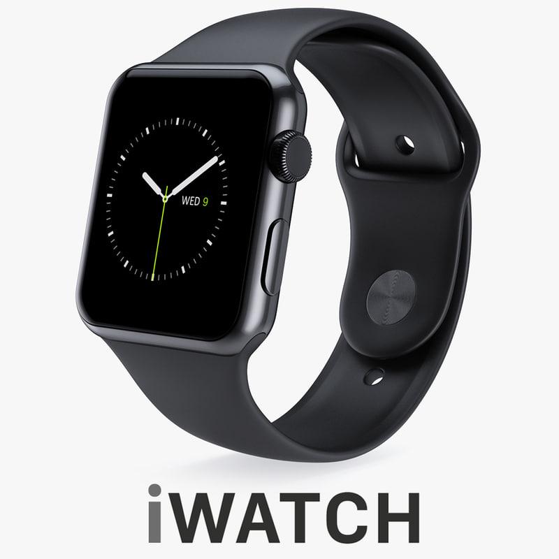 3d model apple watch 42mm space