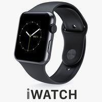 3d model apple watch 42mm space