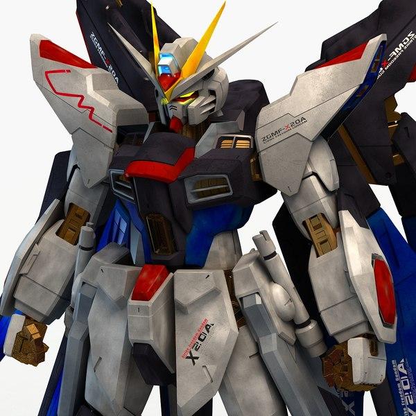3ds max strike freedom gundam