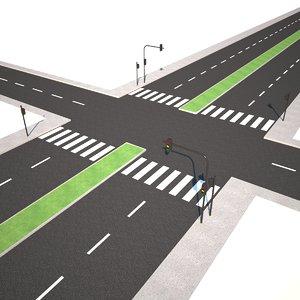 3D modular road model