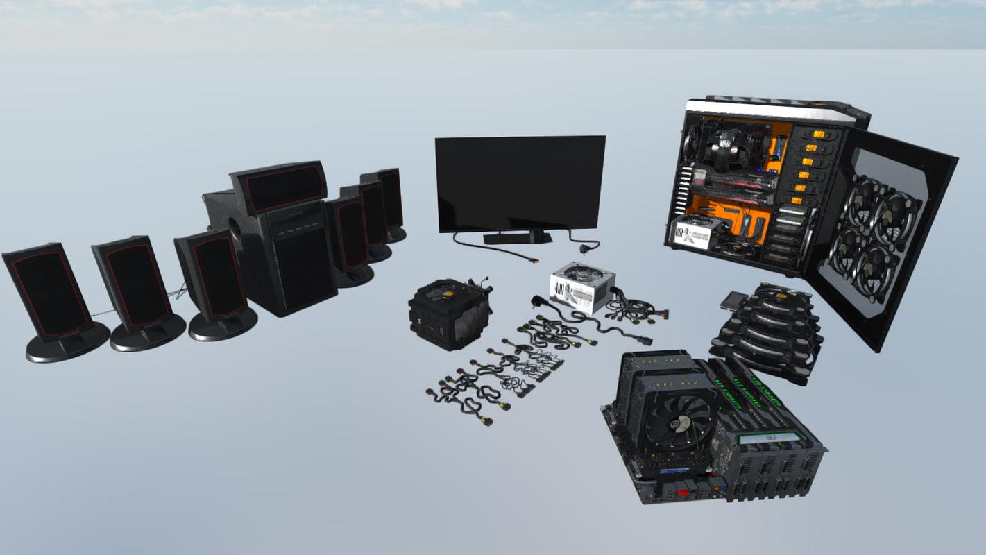computer electronics 3d model