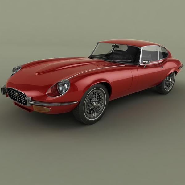 3d max 1971 e-type coupe series