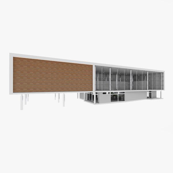 3d city office building