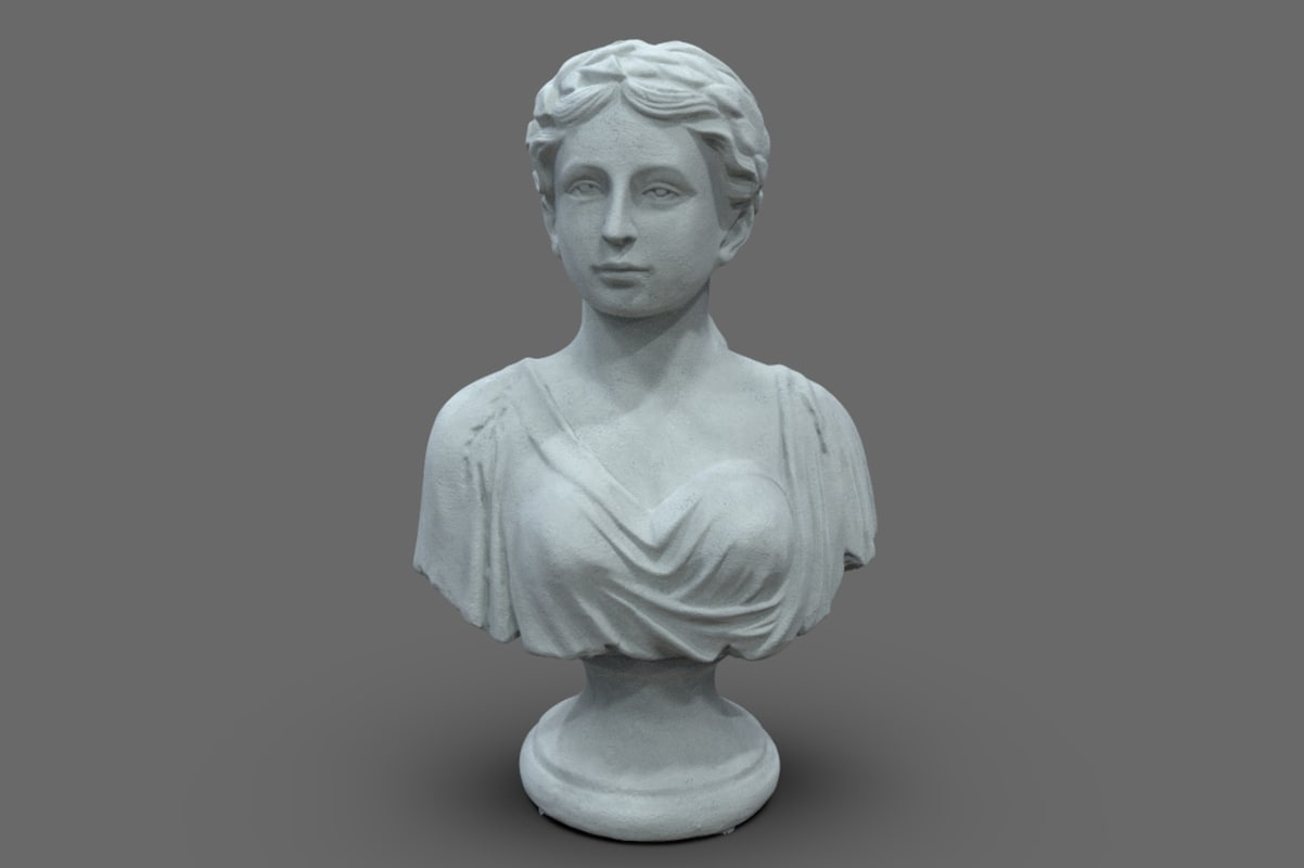 3d scan female bust statue model