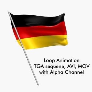 Swinging Flag Loop Animation - Germany