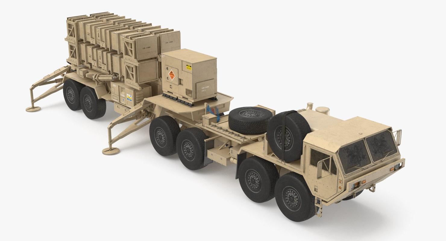 heavy truck hemtt patriot 3d model