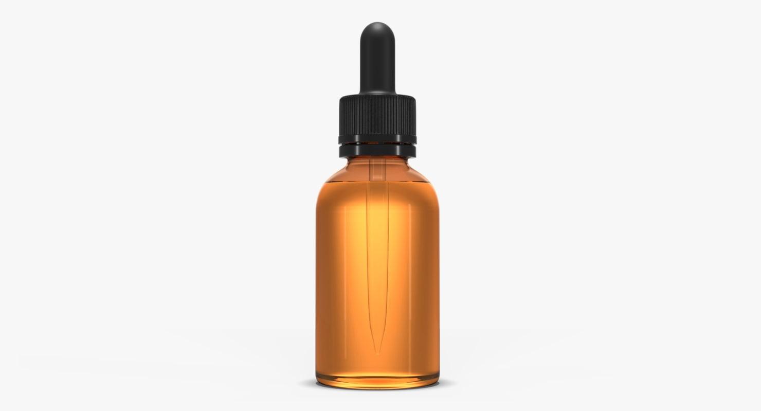 amber glass bottle dropper 3d 3ds