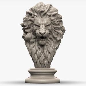 lion head 3d max