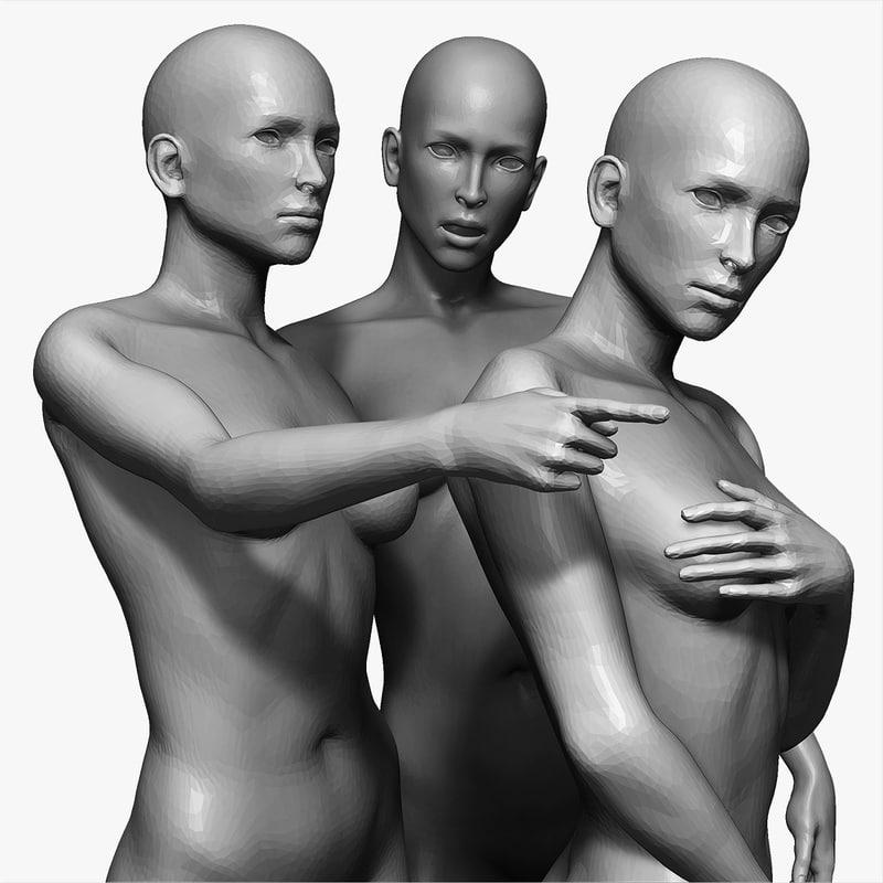 female poses sculptures max