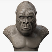 Gorilla Head Sculpture