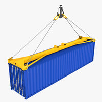 Sea Container with Spreader