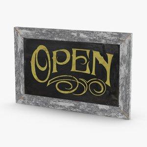 vintage-open-sign 3D model