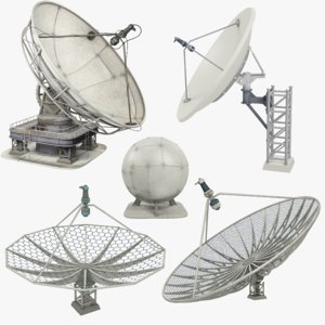 satellite dishes 3D model