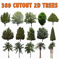 389 CUTOUT TREES, PALMS AND PINES