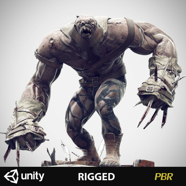 zombie rigged character 3d max