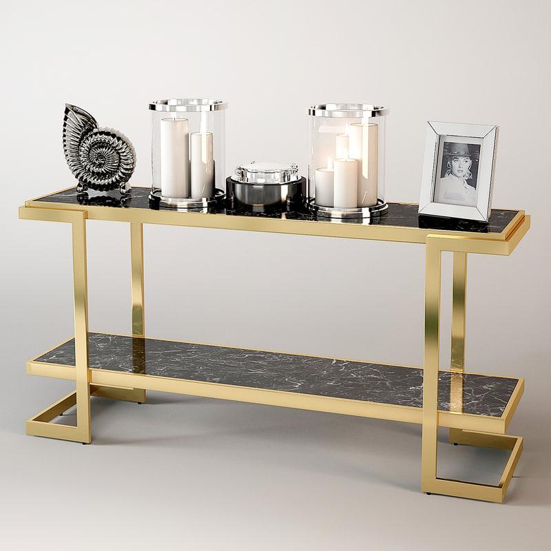 3d model eichholtz console table senato