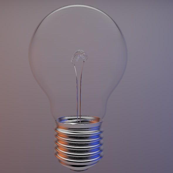 household lightbulb 3d c4d