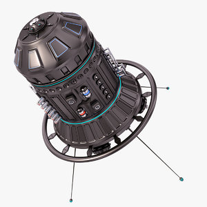 sci fi satellite 06 model