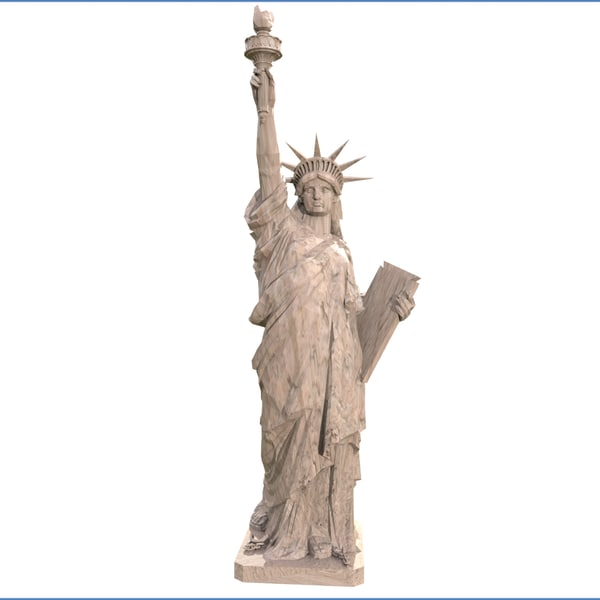 statue liberty ready print model