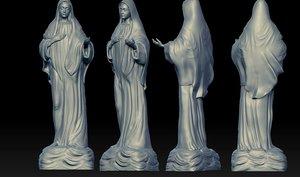 3D virgin mary