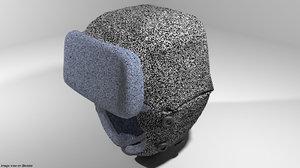 3D hat ushanka
