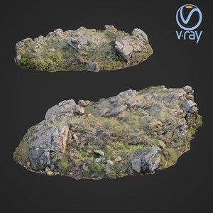 scanned rock cliff b 3D model