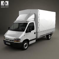 renault master pickup 3D