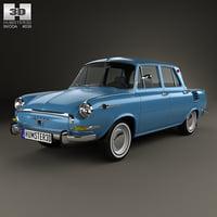 skoda 1000 1964 3D