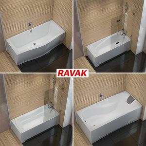 3D set baths ravak xxl